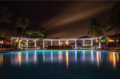 LED pool lights atmosphere mood