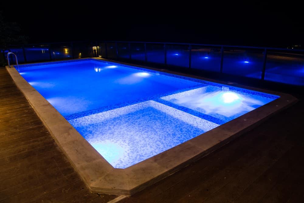 multiple LED pool lights